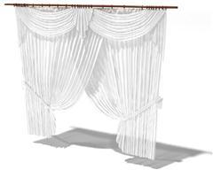 白色欧式古典帘