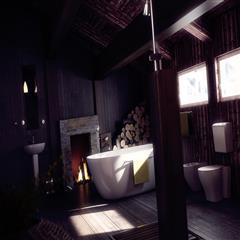 复古浴室-客厅
