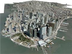 纽约New York City, Manhattan 3D Model