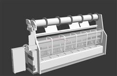 类似印刷机的白模