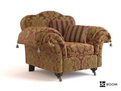 古典家具模型 WADE Upholstery CORINA armchair