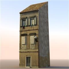 unity3d游戏场景模型之老旧村庄(小楼房2号)