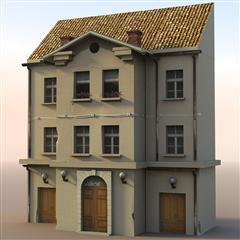 unity3d游戏场景模型之老旧村庄(小楼房10号)