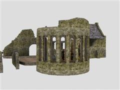 unity3d游戏模型废墟创建3D模型包