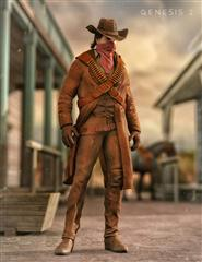 男人 西部牛仔 Western Outlaw for Genesis 2 Male