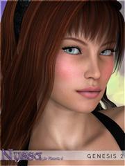 蓝果色眼珠的美女 Nyssa