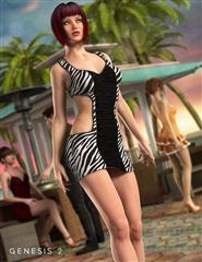 沙滩俱乐部时尚穿着的女人  Club 58 Dress