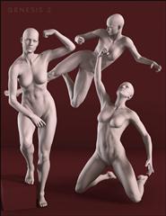 女人 雕塑 模型  斗士 The Fighter