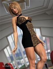 女人 性感短裙 连衣裙 X Dress