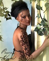 妖娆的女人 纹身 刺青 性感装束 FW Neomi