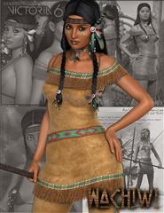 土著 女人 印第安 女性 印第安人衣服、头发包 Wachiwi - Native American Character, Outfit, Hair and Poses Bundle