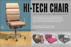 高科技的椅子与四个坐姿 Hi-tech Chair and V4 Sitting Poses