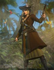 海贼发型 女海盗 Piratess