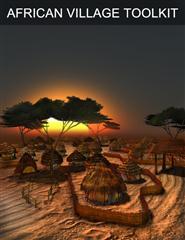 非洲村庄模型包 Poser - African Village Toolkit