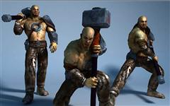 unity3d游戏角色模型高精度男战士3D模型 Dexsoft - Hammer Warrior