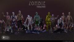 unity3d游戏角色模型Fantasy Horde Zombie僵尸怪物模型(带动作)
