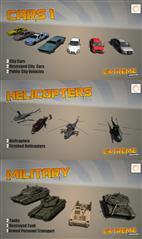 unity3d游戏模型 Extreme Vehicle Pack交通工具合集包(车辆、直升机)