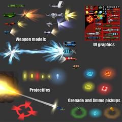 unity3d游戏模型Soldiers and Weapons Pack战士和武器特效模型包v1.2