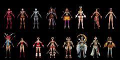 《水浒无双》全套女性人物时装3D模型