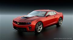 精品汽车系列 红色雪弗兰 卡迈罗 Chevrolet Camaro
