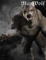 精美狼人模型 Wolf man
