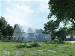别墅住宅外墙场景3D模型第一季 外墙场景模型 场景5