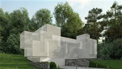 别墅住宅外墙场景3D模型第一季 外墙场景模型 场景1