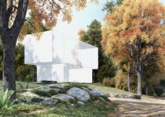 别墅住宅外墙场景3D模型第一季 外墙场景模型  场景3