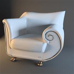 精美的白色沙发