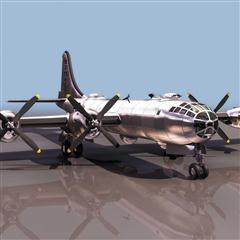飞机3D模型系列 19-20世纪飞机历史博物馆 B-29轰炸机