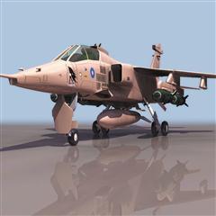 飞机3D模型系列 19-20世纪飞机历史博物馆 美洲虎攻击机