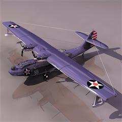 飞机3D模型系列 19-20世纪飞机历史博物馆 老美卡特琳娜轰炸机