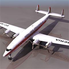 飞机3D模型系列 19-20世纪飞机历史博物馆 西班牙国家航空 民航飞机