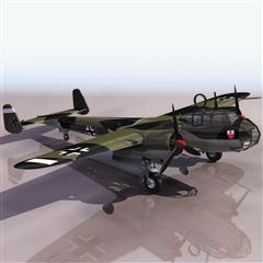 飞机3D模型系列 19-20世纪飞机历史博物馆 道尼尔 Do 17Z