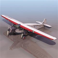 飞机3D模型系列 19-20世纪飞机历史博物馆 螺旋桨飞机