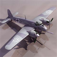 飞机3D模型系列 19-20世纪飞机历史博物馆 亨舍尔Hs 124