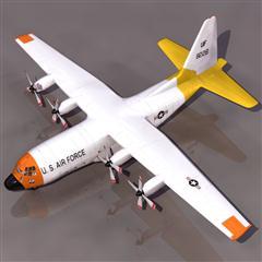 飞机3D模型系列 19-20世纪飞机历史博物馆 美国C-130多用途中型运输机 海格力斯