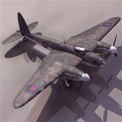 飞机3D模型系列 19-20世纪飞机历史博物馆 蚊式战斗轰炸机 Mosquito