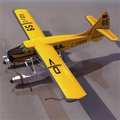 飞机3D模型系列 19-20世纪飞机历史博物馆 水獭飞机