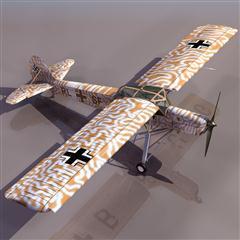飞机3D模型系列 19-20世纪飞机历史博物馆 德国Fi156白鹳式飞机