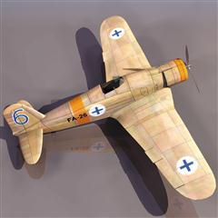 飞机3D模型系列 19-20世纪飞机历史博物馆 菲亚特G.50箭式战斗机