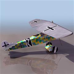 飞机3D模型系列 19-20世纪飞机历史博物馆 二战德国单翼战斗机