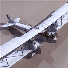 飞机3D模型系列 19-20世纪飞机历史博物馆 二战德国双翼飞机