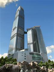 建筑可视化场景 大楼