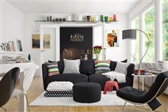 现代风格客厅设计室内场景