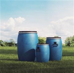 蓝色大型储物桶