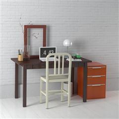办公室、书房系列 棕色书桌