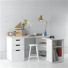 办公室、书房系列 白漆书桌