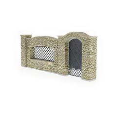 围墙系列 石砌围墙1
