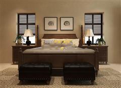 美式传统风格床具组合